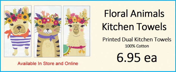 Floral Animal Kitchen Towels