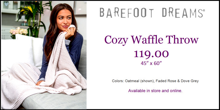 Barefoot Dreams Cozy Waffle Throw
