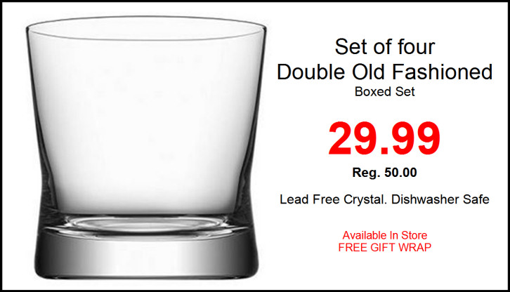 Orrefors Double Old Fashioned boxed set