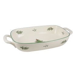 "SPODE ""Christmas Tree"" Bread Basket 14"" x 7.5"" #1377983"