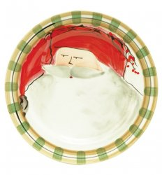VIETRI Old St. Nick Red Hat Dinner Plate Style #OSN-7800A