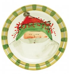VIETRI Old St. Nick Green Hat Dinner Plate Style #OSN-7800B