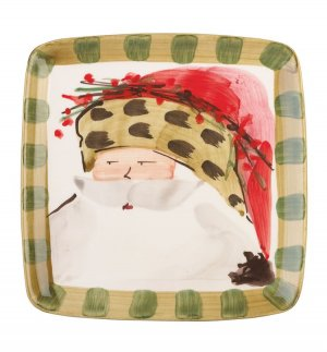 VIETRI Old St. Nick Animal Hat Square Salad Plate Style #OSN-7801C