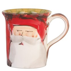 VIETRI Old St. Nick Red Hat Mug Style #OSN-7810A