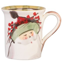 VIETRI Old St. Nick Green Hat Mug Style #OSN-7810B