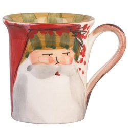 VIETRI Old St. Nick Striped Hat Mug Style #OSN-7810D