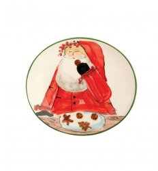 VIETRI Old St. Nick Boxed Cookie Plate Style #OSN-7839
