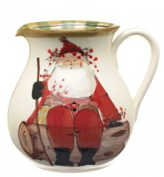 VIETRI Old St. Nick Round Body Pitcher Style #OSN-7815