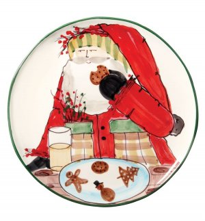 VIETRI Old St. Nick Cookie Platter Style #OSN-7823