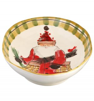 VIETRI Old St. Nick Oval Serving Bowl Style #OSN-7821