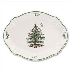 "SPODE ""Christmas Tree"" Oval Platter 17"" #1556171"