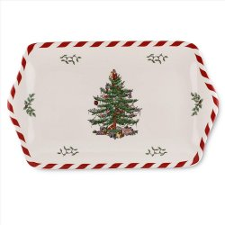 "SPODE ""Christmas Tree"" Peppermint Dessert Tray 12"" #1555990"