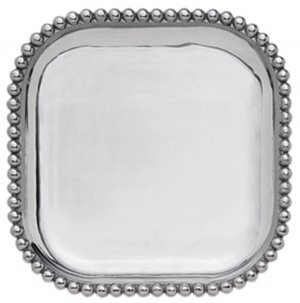 MARIPOSA Pearled Small Square Platter Style #1145