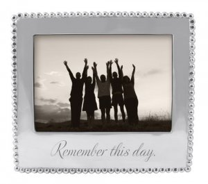 """MARIPOSA """"Remember this Day"""" 5 x 7 Frame Style #3911RD"""