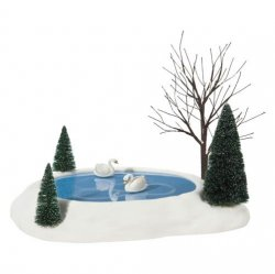 Department 56 Animated Swan Pond