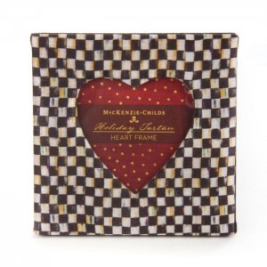 MacKenzie Childs Courtly Check Heart Frame