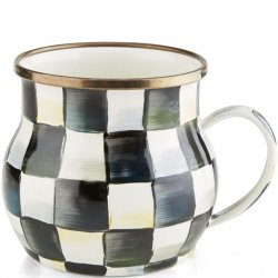 MacKenzie Childs Courtly Check Enamel Mug