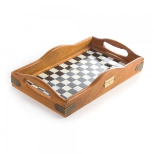 MacKenzie Childs Courtly Check Hostess Tray - Small