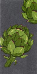 "All Clad Artichoke Print Kitchen Towel in Pewter - 17"" x 30"""