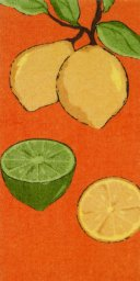"All Clad Citrus Print Kitchen Towel in Tangerine - 17"" x 30"""