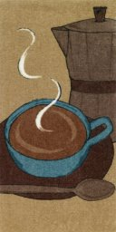 "All Clad Cappuccino Print Kitchen Towel in Cappuccino - 17"" x 30"""
