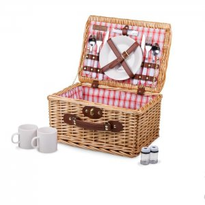 PICNIC TIME Catalina Basket Style #140-10-114 - Red and White Plaid