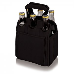 PICNIC TIME Six Pack Cooler Tote Style #608-00-179 - Black
