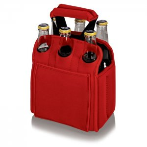 PICNIC TIME Six Pack Cooler Tote Style #608-00-100 - Red