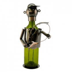 Wine Bottle Holder - Fisherman