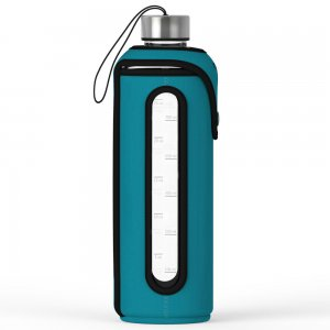 Xtremeglas 32 OZ glass bottle - Teal