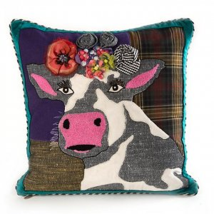 MacKenzie Childs Mac Cow Pillow