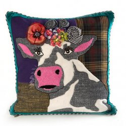 MacKenzie-Childs Mac Cow Pillow