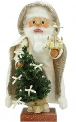 "ULBRICHT 18"" White Santa With Pyramid Style #0-813"