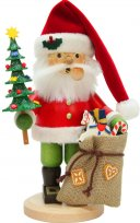ULBRICHT Smoker Red Santa Claus w/ Tree & Bag Style #1-196