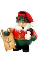 "ULBRICHT Smoker 6"" Santa -Sled Red/Green Style #1-465"