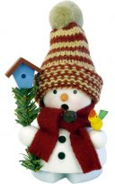 ULBRICHT Smoker Snowman with Birdhouse Style #1-654