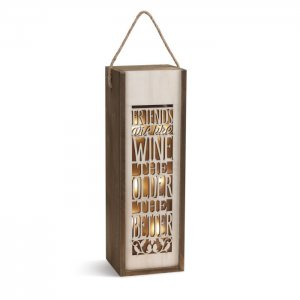 Lighted Wine Caddy - Friends are like wine