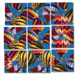 9 Piece Puzzle - Hot Air Balloons