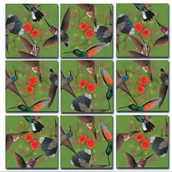 9 Piece Puzzle - Hummingbirds