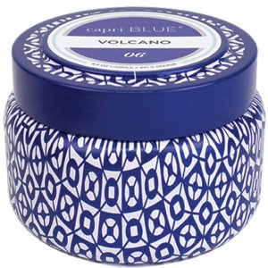 """Capri Blue"" Volcano Printed Travel Tin Candle - 8.5 oz"