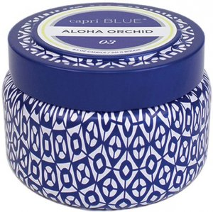 Capri Blue Aloha Orchid Printed Travel Tin Candle - 8.5 oz