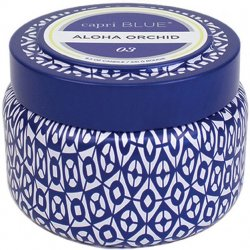"""Capri Blue"" Aloha Orchid Printed Travel Tin Candle - 8.5 oz"