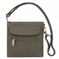 Travelon Anti-Theft Classic Mini Shoulder Bag Style #42459 - Nutmeg