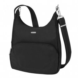 Travelon Anti-Theft Classic Essential Messenger Bag Style #42457 - Black