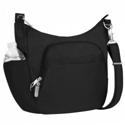 Travelon Anti-Theft Classic Crossbody Bucket Bag Style #42757 - Black