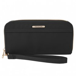 Travelon Tailored Single Zip Wallet Style #43204 - Onyx