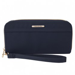 Travelon Tailored Single Zip Wallet Style #43204 - Sapphire