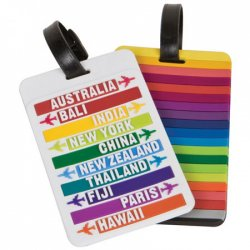 Travelon Set of 2 Luggage Tags - Hot Spots - Style #12740