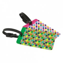 Travelon Set of 2 Luggage Tags - Dots - Style #12657