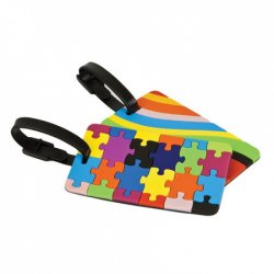 Travelon Set of 2 Luggage Tags - Puzzles and Swirls - Style #12658